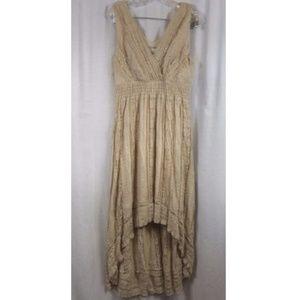 dressbarn Khaki Lace Romantic Hi Lo Dress 12